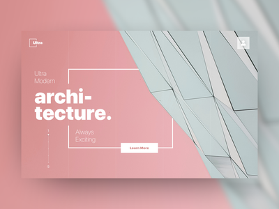 Ultra Architecture branding ui design architecture modern ui landing home page building architect