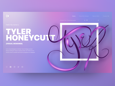 Tyler Honeycutt, Visual Designer procreate home page illustration typography design artwork ui ux modern personal brand