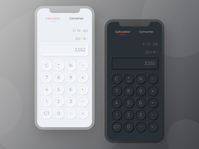 UI Challenge Day 4 daily ui dark ui dailyui minimalist modern ux ui mobile design mobile app mobile ui moblie app design app calculator lightmode darkmode