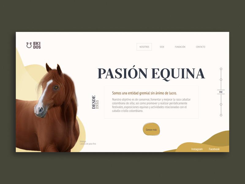 Ekidos   Landing page animals header web  design earth tone brown user inteface typogaphy ux ui landing page design