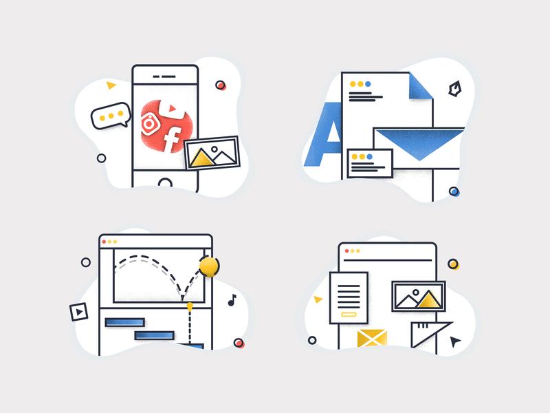 Duva Icons services branding website icons textured vector icon set design illustration icon