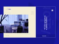 Valor.  Website design