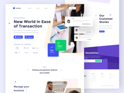 Be save with cashless - Landing page
