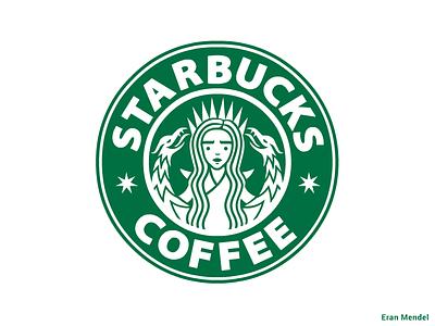 7 pointed Starbucks coffee cup khaleesi dragon starbucks targaryen daenerys targaryen minimal typography flat 2d game of thrones illustration characters branding logo vector got eran mendel character