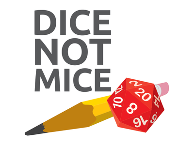 Dice Not Mice dungeons and dragons tshirt illustration vector rpg dice
