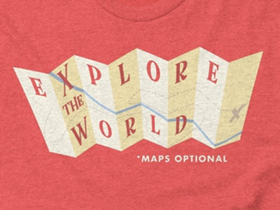 Explore The World T-Shirt vintage illustration shirt design outdoors hiking exploring