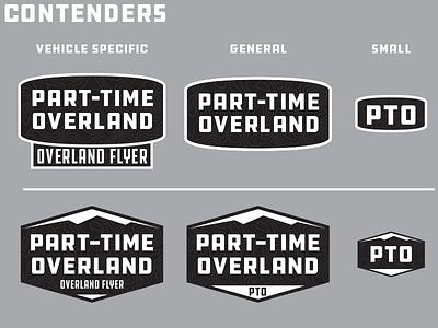 Part-Time Overland Logos vintage work in progress wip logos logo retro outdoors overlanding overland branding