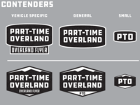 Part-Time Overland Logos