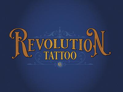 Revolution Tattoo barbary coast victorian tattoo vector logo branding