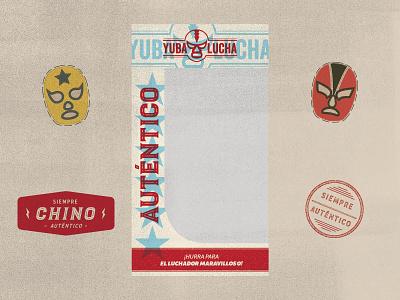 Yuba Lucha Packaging vector retro vintage lucha libra lucha illustration branding packaging