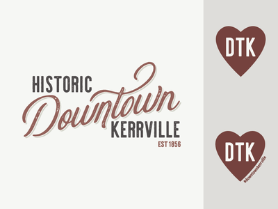 Downtown Kerrville Rebrand downtown city vintage vector design branding illustration