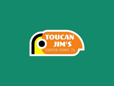 Toucan Jim's theme bird tropical vector logo illustration design branding