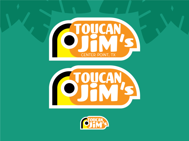 Toucan Jim's Refined vector topical theme logo illustration design branding bird