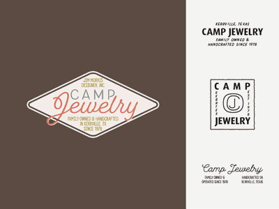 Camp Jewelry Concepts jewelry camp vector logo vintage design branding