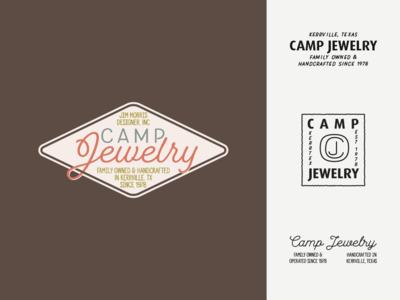Camp Jewelry Concepts jewelry camp vector logo vintage design branding