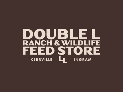 Double L Feed Store rural feed store ranch farm typography logo vintage design branding