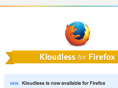 Kloudless gets Fox-y kloudless firefox email layout mailchimp clean ribbon rainbow newsletter