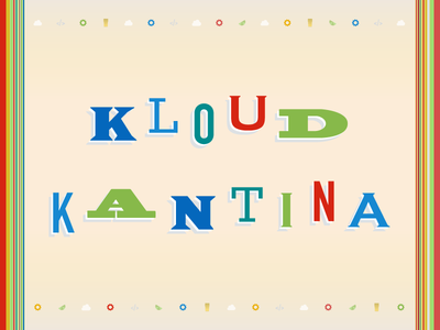 Kloud Kantina cantina happy hour event banner type typography fiesta colorful playful beer