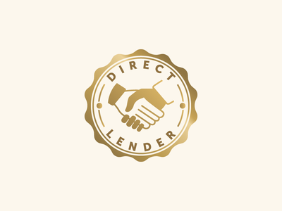 Direct Lender badge lender lendup gold stamp handshake hands approved icon