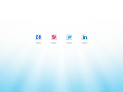 Contact Icons social media icon icons behance dribbble twitter linkedin