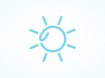 Sun logo 1 logo mark identity sun paperclip blue clean