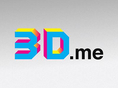 3D.me logo logo 3d mark cmyk geometric bold helvetica