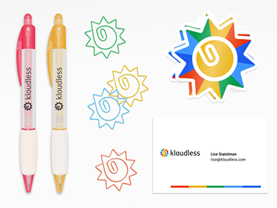 Branding brand guide swag collateral stickers paperclips pens business cards brand manual