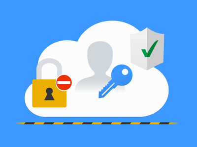 Security Illustration security lock key shield secure verify check cloud flat