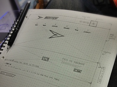 Wireframin' a Website ux sketch ui dot grid book wireframe website