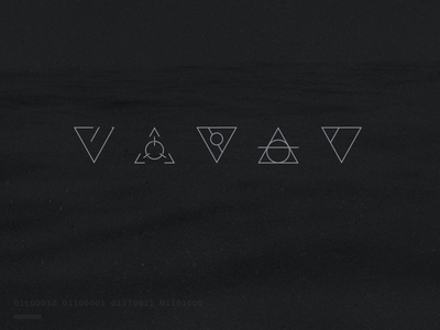 Tricons triangles icons branding waves dark