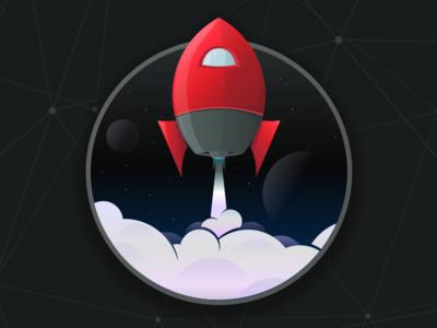 Digitech Blast Off rocket space spaceship icon