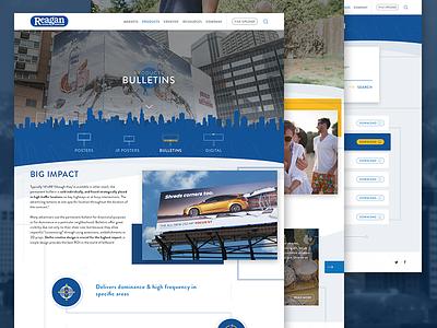 Reagan Outdoor icons billboards advertising mockup website webdesign web ux ui