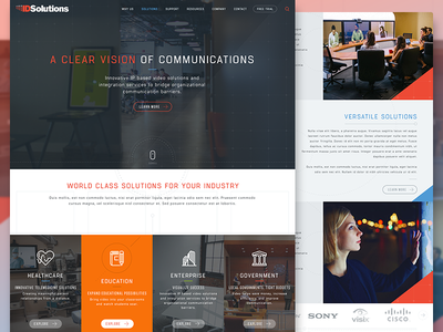 ID Solutions mockup web website webdesign ux ui icons communications software video