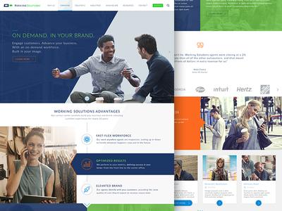 Working Solutions agency webdesign design corporate ux ui web website