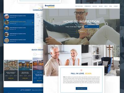 Brookfield website mockup visualdesign design webdesign web design web ui real estate houses builder homes