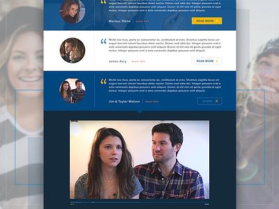 Success Stories web webdesign web design design ui homes video testimonial houses