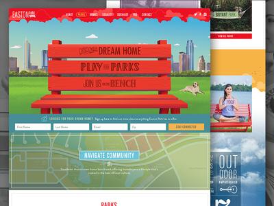 Easton Park colorful vector design ui homes web design website animation