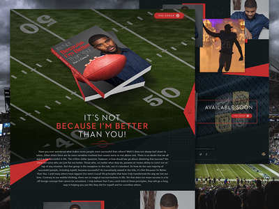 It's Not Because I'm Better Than You ui design web design ui design web website sports football nfl