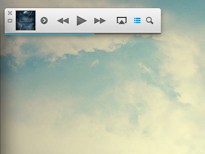 iTunes 11 Mini Player itunes apple app ui ux