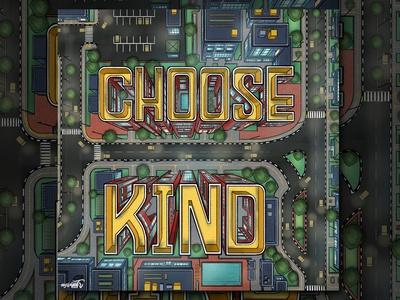 """""""Choose Kind"""" Hand Lettering isometric design isometric isometric illustration isometric art illustrator art digital art digital lettering hand lettering typography lettering"""