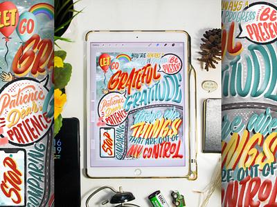 """Grateful & Gratitude"" Digital Lettering illustration calligraphy goodtype gratitude quotes illustrator art digital art brush lettering digital lettering hand lettering typography lettering"