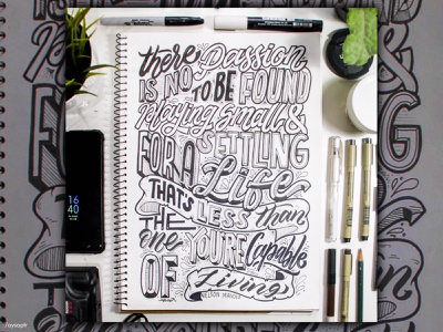 """""""There is no passion"""" Hand Lettering quotes illustration calligraphy typography design manual lettering lettering art typography art goodtype brush lettering hand lettering typography lettering"""