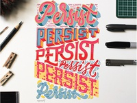 Persist. Hand Lettering