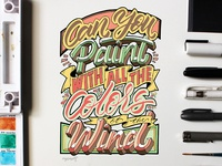 """""""Colors of the Wind"""" Hand Lettering"""