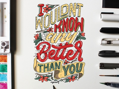 """""""I Wouldn't Know"""" Hand Lettering"""