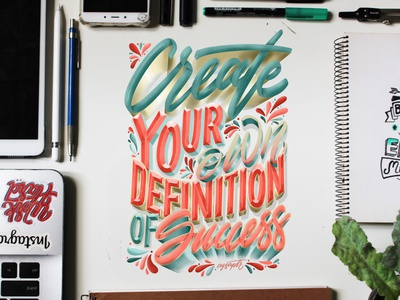 """""""Definition of Success"""" Hand Lettering"""