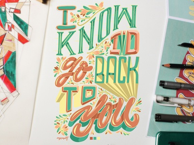 """""""Back To You"""" Hand Lettering"""