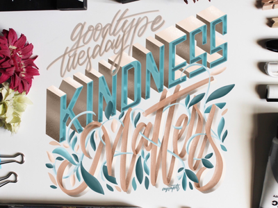 """""""Kindness Matters"""" Hand Lettering"""