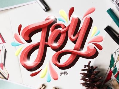 """Joy"" Hand Lettering"