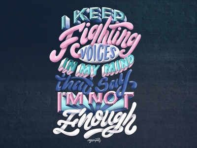 """Lyrics of """"You Say"""" by Lauren Daigle Hand Lettering"""